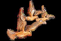 Bronse fugler i flokk 35125